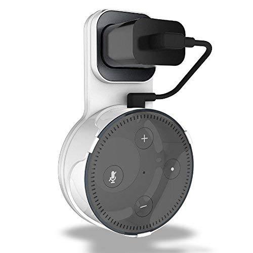 Amazon Echo Dot 壁掛け ハンガー ホルダー エコードット専用 充電ケーブル付き 充電しながら使用可能 エコ...