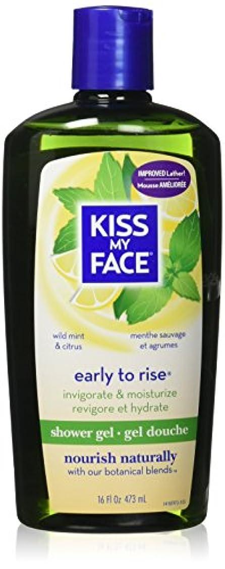 恋人ジョージバーナード沼地Kiss My Face Invigorating Early To Rise Shower Gel - Wild Mint & Citrus - 16 oz by Kiss My Face