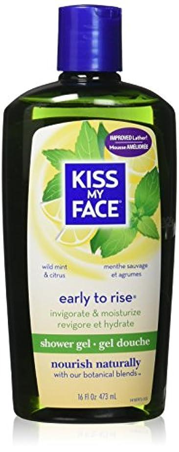 スラダムリボンコンソールKiss My Face Invigorating Early To Rise Shower Gel - Wild Mint & Citrus - 16 oz by Kiss My Face