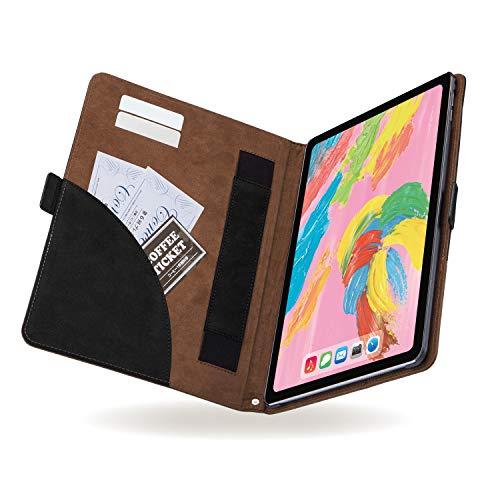 エレコム iPad Pro 11インチ (新iPad Pro 2018年モデル) ソフトレザーカバー フリーアングル ツートン ブラック×ブラウン TB-A18MPLFDTBK