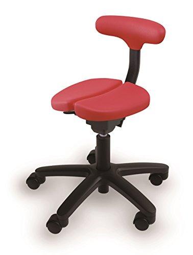 【姿勢が良くなる椅子】【腰痛予防・お子様の集中力向上にも】アーユルチェアー オクトパス レッド