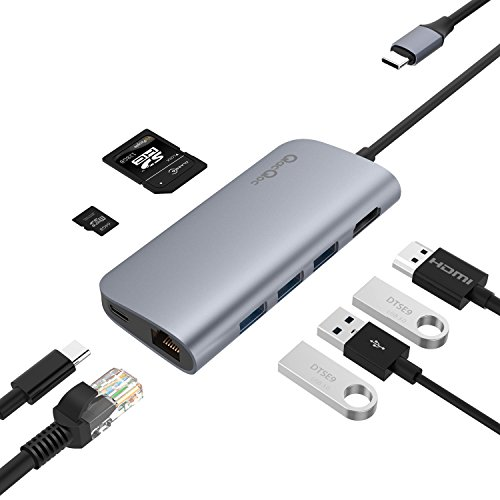 USB C ハブ USB C Hub Adapter 8-in-1多機能 4...