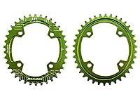 UPANBIKE ユニセックス 狭いワイド楕円形シングル自転車チェーンリング104ミリメートルBCD 36Tグリーン