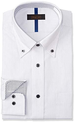 [スティングロード] ワイシャツ 17種類から選べる 長袖 形態安定 デザインシャツ レギュラーフィット メンズ #2D グレーストライプ/ボタンダウン 日本 LL86 (日本サイズXL相当)