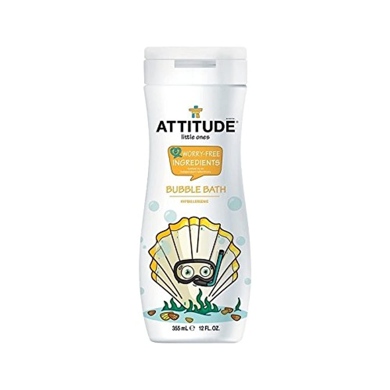 きしむきしむ良心的エコキッズ低刺激性の泡風呂の355ミリリットル (Attitude) (x 4) - Attitude Eco Kids Hypoallergenic Bubble Bath 355ml (Pack of 4) [並行輸入品]