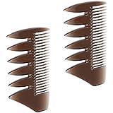 SM SunniMix 2個入 ヘアコンビ デュアルサイド メンズ 髪櫛 ヘアサロン ヘアスタイリング 散髪店/美容院専用櫛