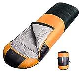 寝袋 丸洗いできる 封筒型 シュラフ 軽量 保温 210T防水 アウトドア キャンプ 登山 車中泊 防災 2個 連結可能