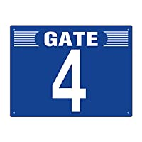 【305-303】ゲート表示板 GATE 4 ヨコ
