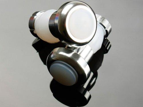 自転車用LEDフラットエンドライト/バーエンドキャップライト#シルバー
