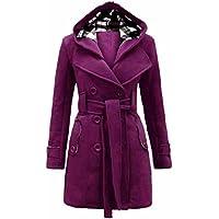 Gillberry Women's Jacket Women's Warm Winter Hooded Breasted Jacket