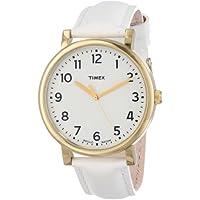 Timex Unisex T2P170AB Originals Classic Round White Leather Strap Watch