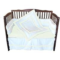 Baby Doll Bedding Modern Hotel Style Crib Bedding Set, Ivory by BabyDoll Bedding