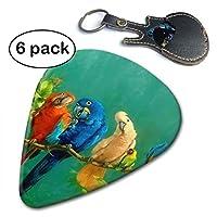Yhscvb Colorful Parrot Birds On The Tree ギターピック カラフル ピック トライアングル ネームギターピック Guitar Pick
