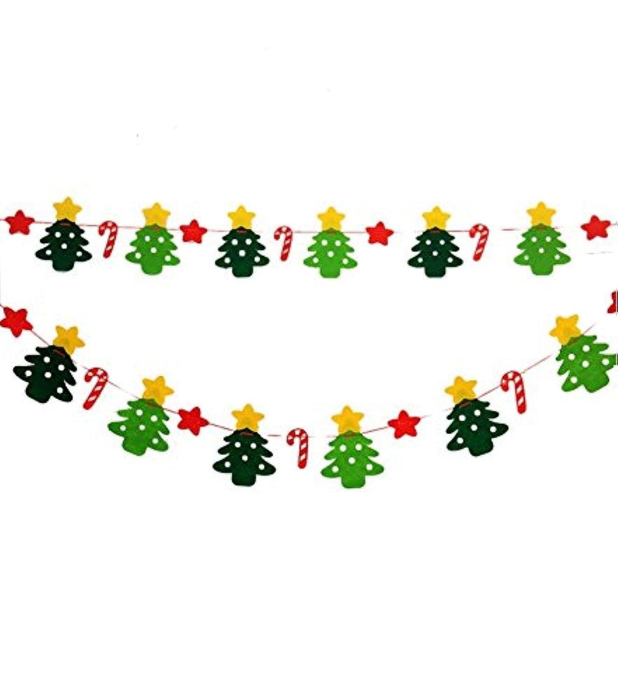 クリスマス 飾り付け フェルト バナー パーティー 飾り クリスマス サンタ ガーランド クリスマスツリー 壁飾り ショップ 屋外 インテリア 可愛い 雪花 英語 デコレーション 雑貨 (ホシ)