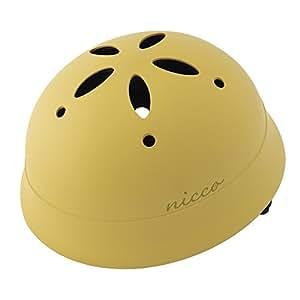 クミカ工業 Nicco ヘルメット ルシック/KM002L/ベビー用/CE/日本製/ハードシェル マットマスタード (頭囲 47cm~52cm)