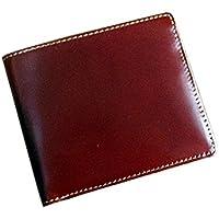 コードバン×本ヌメ革 カード札入れ/純札入れ/小銭入れ無し二つ折り財布