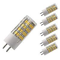 bqhy ®調光機能付きt4g5.タイプLEDハロゲン交換用バルブ、暖かいホワイトg5. LED AC 120ボルト、5W 500lm 50W相当の洪水、ステップ、チューリップ、デスクランプとマッシュルーム照明( 5個パック) G5.3