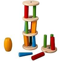 PlanToys Plan Preschool Tower Tumbling Game and Puzzle [並行輸入品]