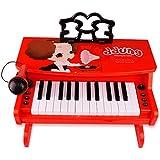 KTYXDE 子供の初心者のピアノ3-6歳の女の子のマイクを使った多機能音楽のおもちゃ赤ちゃんの電子ピアノ キッズキーボードピアノ