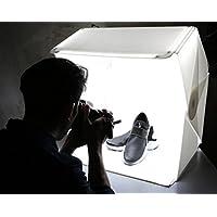 撮影 ブース 撮影ボックス 撮影スタジオ 折り畳み 簡易スタジオ 60cm 128個LED照明搭載 磁石固定式 防水 安定性 2バリエーション背景付 ソフトフューザー 60×50×63cm 携帯型 収納バッグ