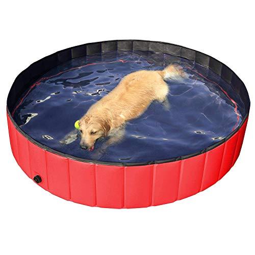ペット用プール 猫 犬 キッズ用バスタブ 水遊び お風呂 折りたたみプール 空気不要 水抜き栓付き 屋内とアウトドア使用可