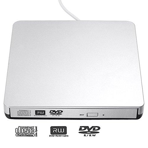 Blingco 外付けDVDドライブ USB2.0 DVD+R, DVD-R,DVD-RW CD-ROM, DVD-ROM, CD-R, CD-RWリコーダー ポータブルCD DVD読み込み、書き込み両方可能な光学式ドライブ Windows XP/Vista/7/8.1/10 Mac OS(全てのバーション)対応可 ノートパソコン ラップトップ PCに適合