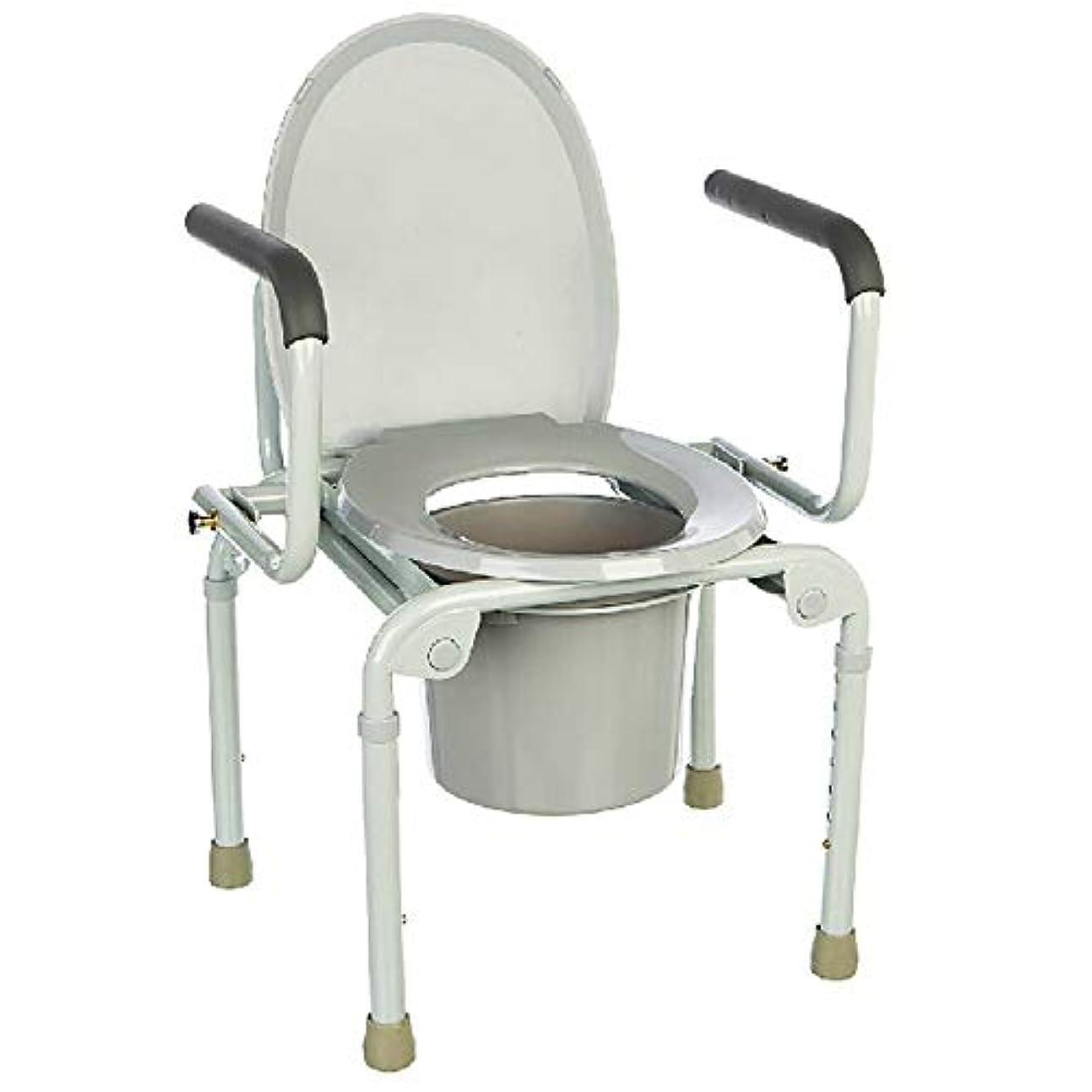 ちょっと待って想像力豊かなおじさん- リムーバブルコメード軽量アルミ製バスルームトイレシートベルト付きホイール/障害物トップローディングで簡単に高齢者モビリティエイド便器椅子 チェスト