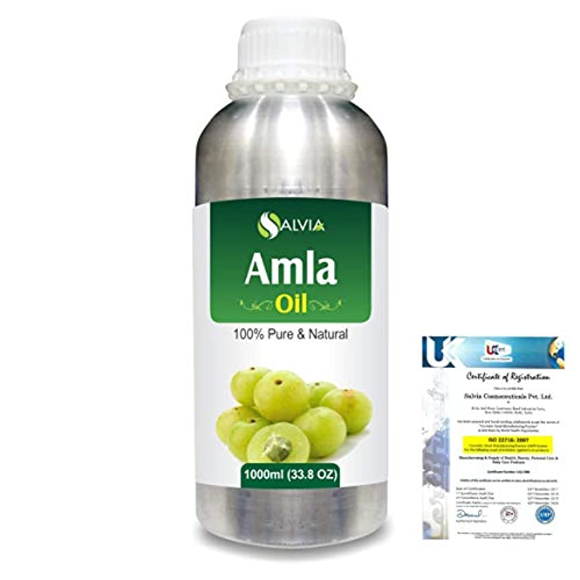 画家上へ二週間Amla Herbal (Phyllanthus emblica) 100% Natural Pure Oil 1000ml/33.8fl.oz.