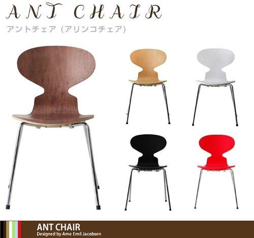 家具通販/インテリア 雑貨 おしゃれ/ アルネ・ヤコブセンの名作チェアー「アントチェア」「ANT CHAIR」 「単品販売」 (レッド 赤)