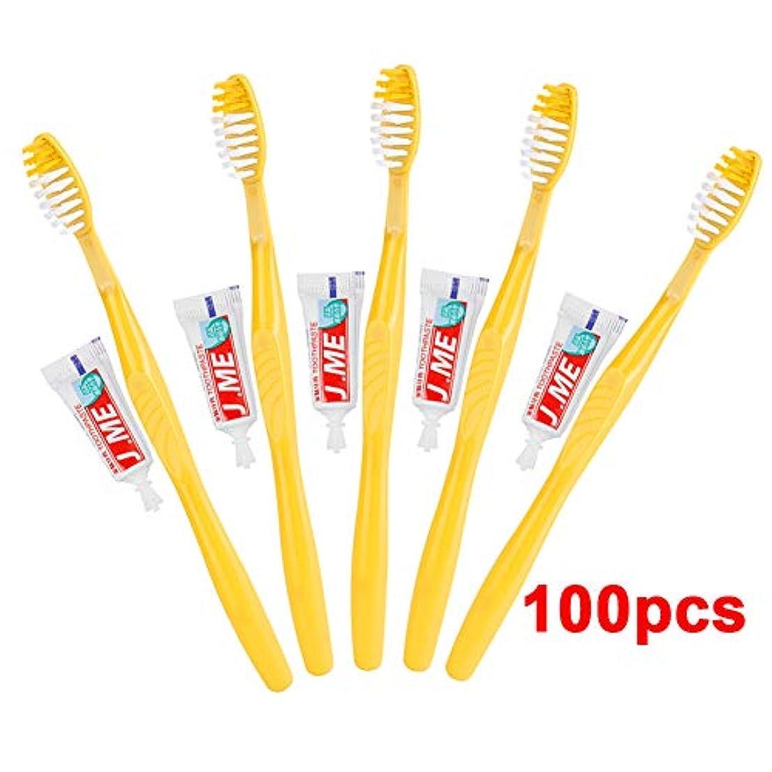 生まれ補償平手打ちDoo 超安い 100本入り 業務用使い捨て歯ブラシセット ハミガキ粉付き 使い捨て歯ブラシ ビジネス ホテル 工業用
