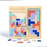 木製テトリスパズル ジグソーパズル 知育玩具 おもちゃ (2種類)
