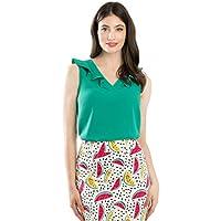 Review Women's Petunia Blouse Emerald Green