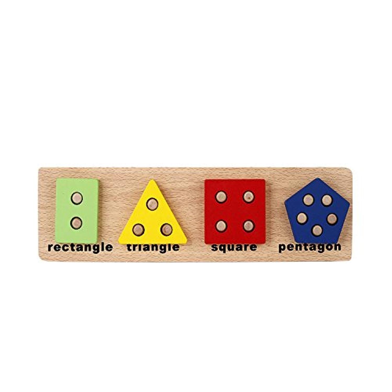 木製幾何ソートボードパズルShape & Color Sorter ( D )