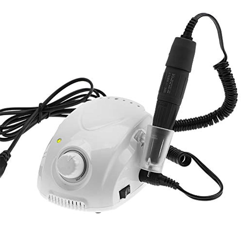 傷つきやすい批判的内陸電動ネイルドリル、35000RPM電動ネイルマニキュアペディキュア研削ファイルネイルアート機器キット(US Plug)