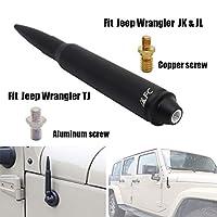 5.7インチ ブラックブレットアンテナ ヘビーゲージビレットアルミニウム 交換用 AM FMラジオ信号レセプション ジープラングラー JK & JL & TJ (1997+)   ジープラングラー JL & JK アクセサリー