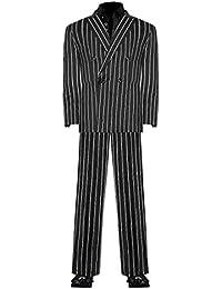 ダイヤモンドジャパン(DIAMOND JAPAN) ダブルスーツ 黒×ダブルストライプ ヤクザ チンピラ ホスト 成人式 二次会 オラオラ系 紳士 メンズ ファッション 上下セット 服 派手 DJ-SU091