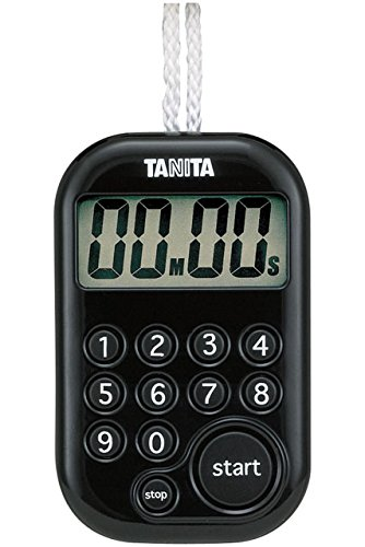 タニタ タイマー テンキー 100分 ブラック TD-379 BK