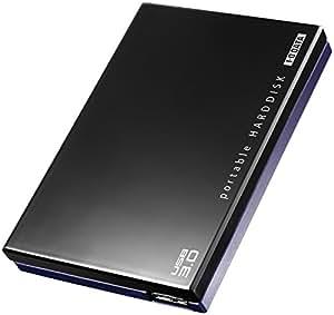 I-O DATA HDD ポータブルハードディスク 1TB USB3.0/テレビ録画/パソコン/家電対応 日本製 HDPE-UT1.0