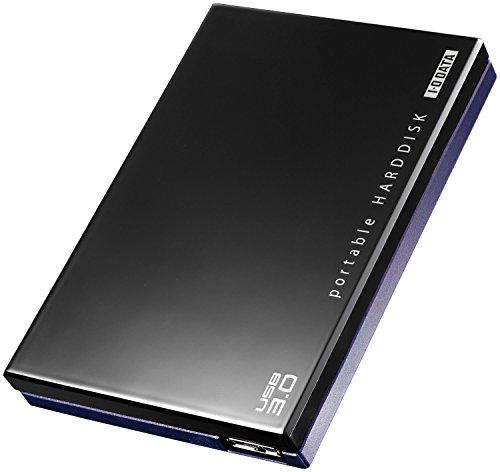 I-O DATA HDD ポータブルハードディスク 500GB USB3.0/テレビ録画/パソコン/家電対応 日本製 HDPE-UT500 -