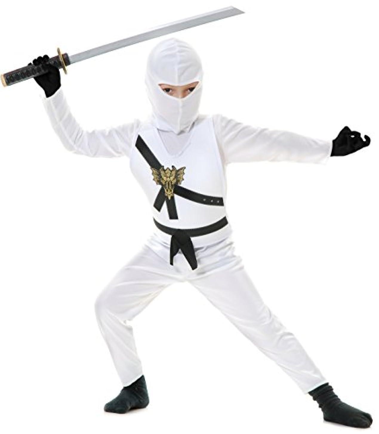 鉄道駅期待して小人White Ninja Avengers Series II Toddler/Child Costume 白忍者アベンジャーズシリーズIIの幼児/子供の衣装?ハロウィン?Sサイズ