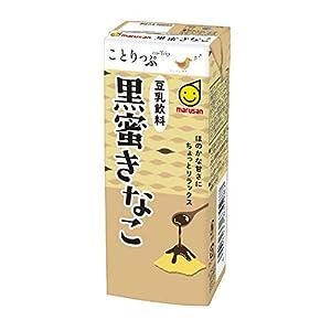 マルサンことりっぷ 豆乳飲料 黒蜜きなこ 200ml×24本