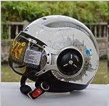 ZEUS 218Cバイクヘルメット ジェットタイプ オープンフェイスヘルメット期間限定、送料無料 男女兼用 メンズ レディース ハーフ パイロット バイクヘルメット シールド付き 安全規格【Lサイズ】