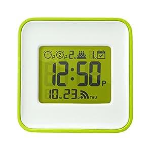 最大14回起こす 2度寝防止 スヌーズ機能 小型 軽量 スマホで設定 ダブルアラーム デジタル 目覚まし時計 電波時計いらず トラベルクロック