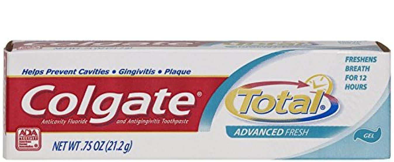 強い一人で開拓者Colgate 総高度な新鮮+ホワイトニングジェル歯磨き、虫歯予防フッ化Antigingivitisの歯磨き粉、ホワイトニングの歯磨き粉、旅行の歯磨き粉、0.75オンス(24の場合)(モデル番号:176331)
