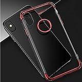 Longlong スマホケース Phone Xケース Phone 7/8ケースPhone 7Plus / 8Plus Phone 6 / 6s 耐衝撃カバー トレンディ 指紋防止 擦り傷防止 (色 : レッド, サイズ : IPhone X)