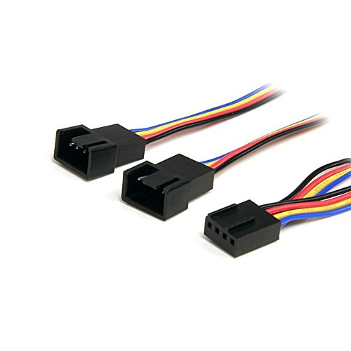 StarTech PWM(4ピン)ケースファン電源用分岐二股ケーブル 30cm 1x 4ピン(メス) - 2x 4ピン(オス) FAN4SPLIT12