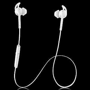 Bluedio S3 スポーツBluetooth イヤホン Bluetooth4.1ワイヤレス ヘッドセット マイク搭載 HD通話 マルチポイント 11.5gの軽さ 防滴仕様 スポーツ 音楽を楽しむ(ホワイト)