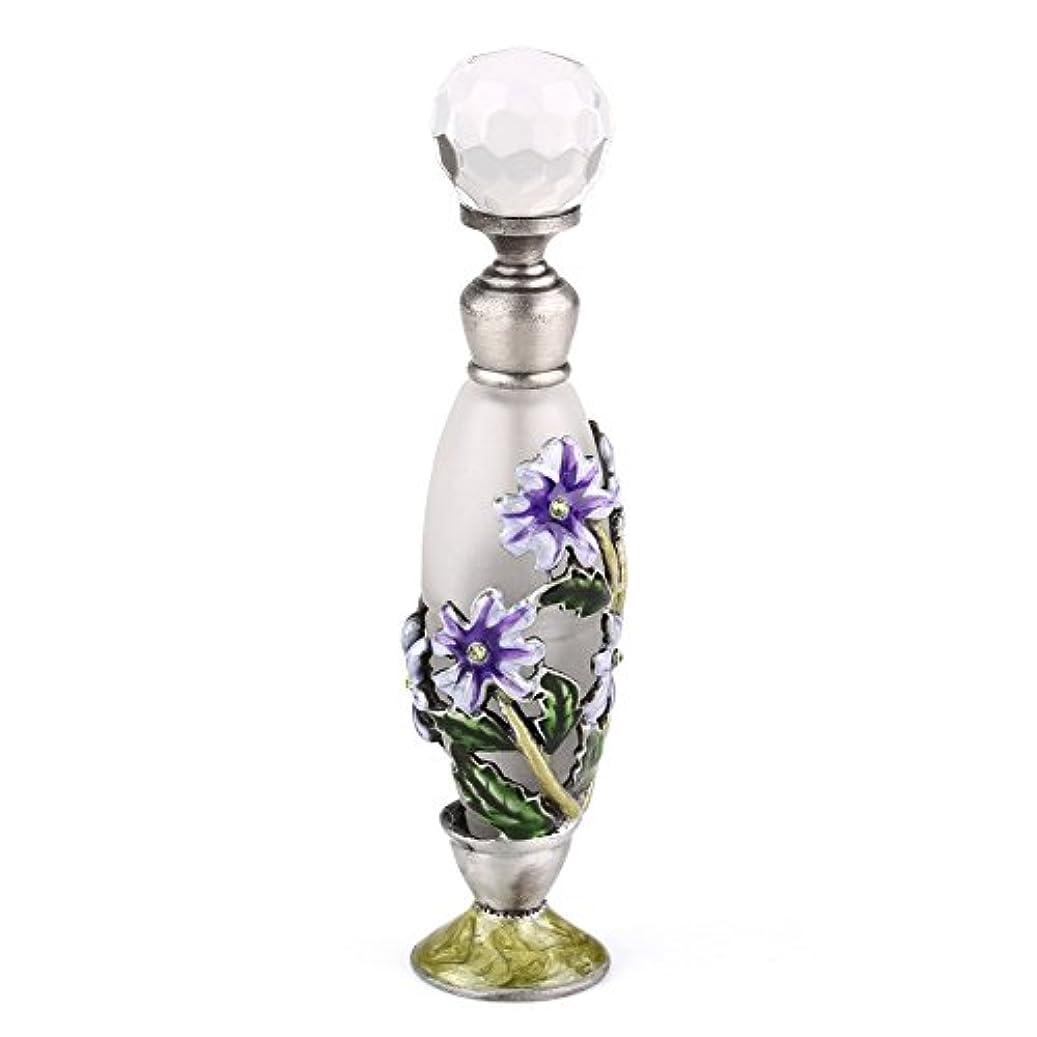 宙返りオーナメントサミット高品質 美しい香水瓶 7ML 小型ガラスアロマボトル フラワー 綺麗アンティーク調欧風デザイン プレゼント 結婚式 飾り