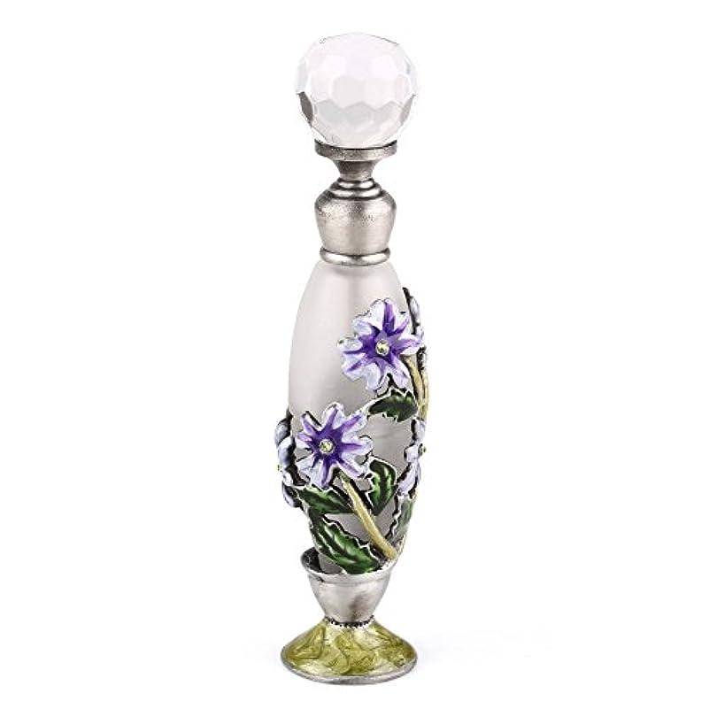 楽な憂鬱なブラウン高品質 美しい香水瓶 7ML 小型ガラスアロマボトル フラワー 綺麗アンティーク調欧風デザイン プレゼント 結婚式 飾り