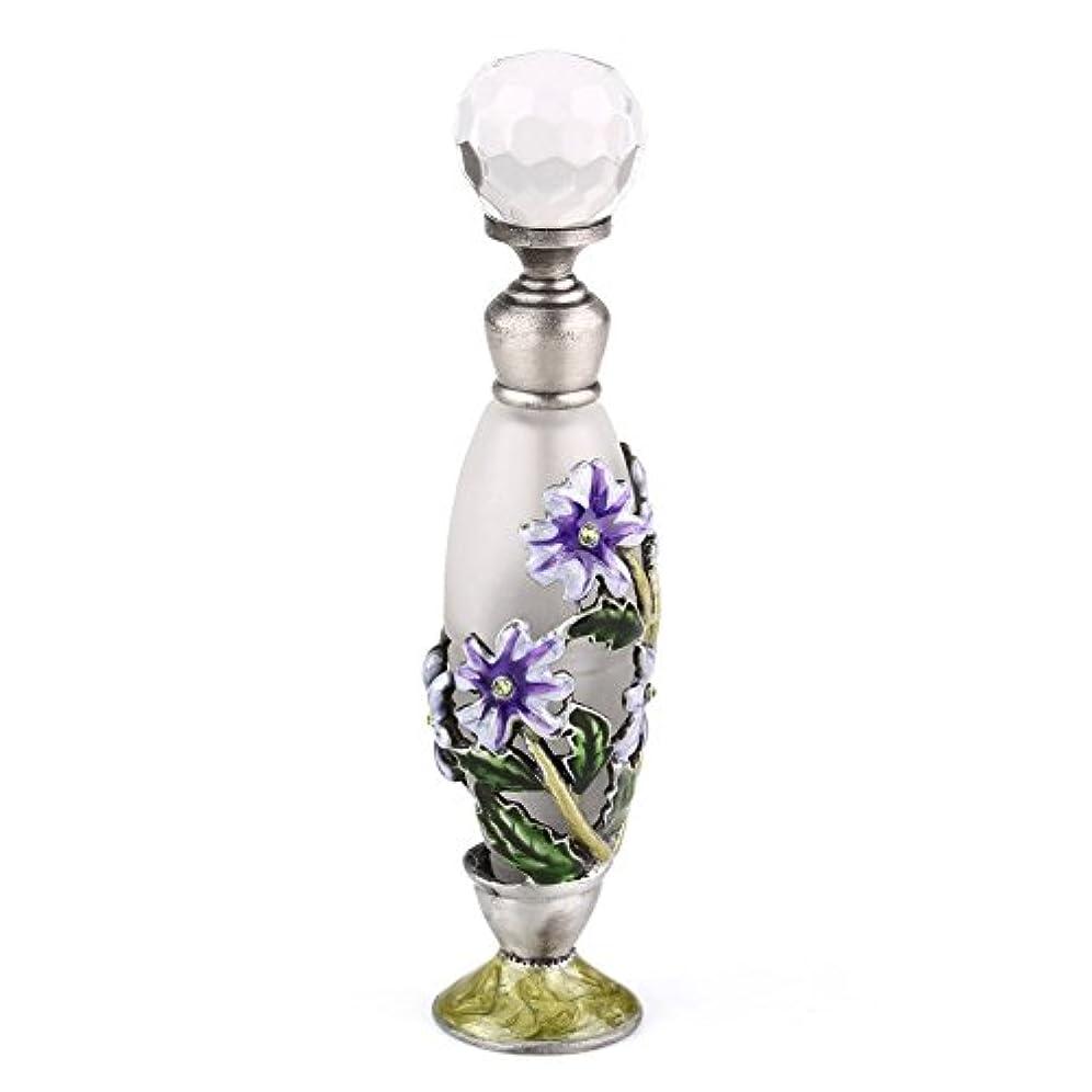 ぼんやりしたグレード温度計高品質 美しい香水瓶 7ML 小型ガラスアロマボトル フラワー 綺麗アンティーク調欧風デザイン プレゼント 結婚式 飾り